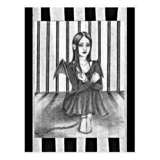 An imprisoned angel post card