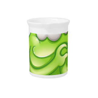 An in-love greenslime monster pitchers