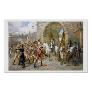 An Incident in the Peninsular War - Napoleon Enter Poster