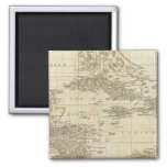 An index map 2 inch square magnet