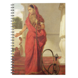 An Indian Dancing Girl with a Hookah, 1772 (oil on Notebook