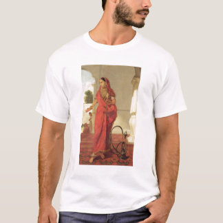 An Indian Dancing Girl with a Hookah, 1772 (oil on T-Shirt