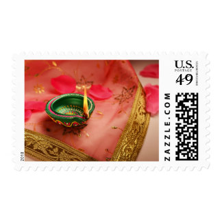 An Indian lamp - still life Postage Stamp