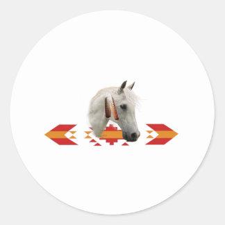 An Indian Pony Classic Round Sticker