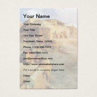 An Indian Pueblo Laguna New Mexico - 1906 Business Card