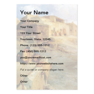 An Indian Pueblo Laguna New Mexico - 1906 Large Business Card