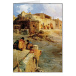 An Indian Pueblo Laguna New Mexico - 1906 Stationery Note Card