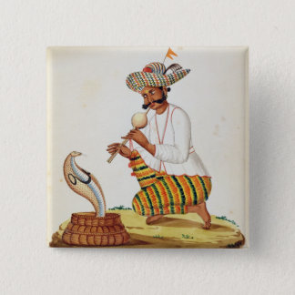 An Indian Snake Charmer with a Cobra, from a Frenc Button