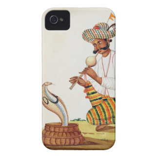 An Indian Snake Charmer with a Cobra, from a Frenc iPhone 4 Cases