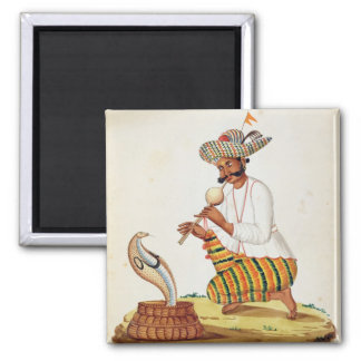 An Indian Snake Charmer with a Cobra, from a Frenc Magnet