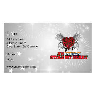 An Indian Stole my Heart Double-Sided Standard Business Cards (Pack Of 100)