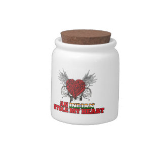 An Indian Stole my Heart Candy Jar