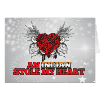 An Indian Stole my Heart Greeting Card