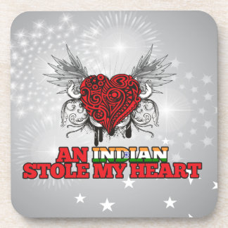 An Indian Stole my Heart Drink Coasters