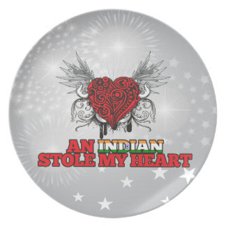An Indian Stole my Heart Party Plates
