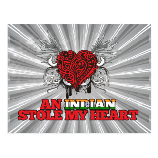 An Indian Stole my Heart Postcard