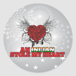 An Indian Stole my Heart Classic Round Sticker