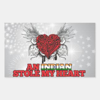 An Indian Stole my Heart Rectangular Sticker