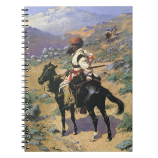 An Indian Trapper by Remington Vintage Wild West Spiral Note Book