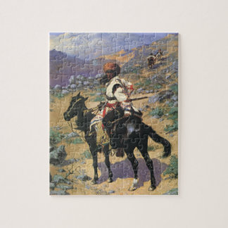 An Indian Trapper by Remington Vintage Wild West Puzzles