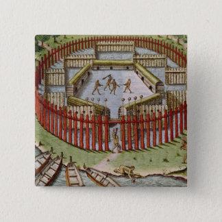 An Indian Village Button