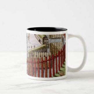 An Indian Village Two-Tone Coffee Mug