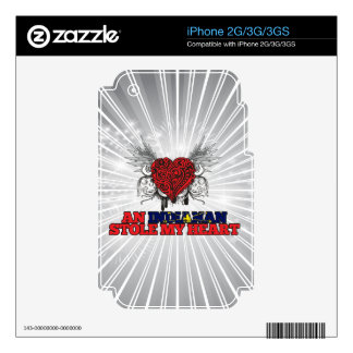 An Indianan Stole my Heart iPhone 2G Decal