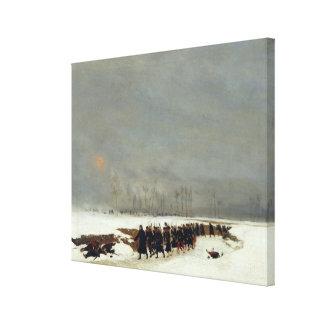An Infantry Column on their Way to a Raid Canvas Print
