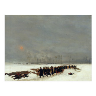 An Infantry Column on their Way to a Raid Post Cards