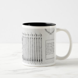 An infantry regiment encampment Two-Tone coffee mug