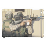 An infantry scout aims his weapon iPad mini cover