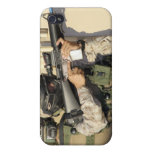 An infantry scout aims his weapon iPhone 4/4S case