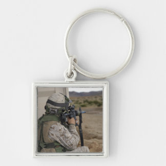 An infantry scout key chains
