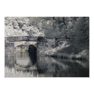 An infrared photo of an old bridge 5x7 paper invitation card