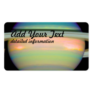 An Infrared View of Saturn Business Card Templates