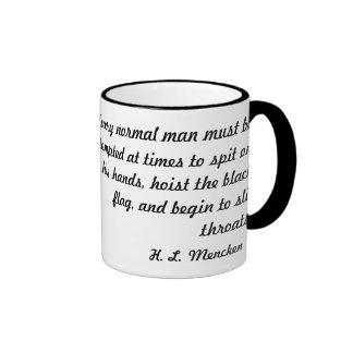 An Ink Sketched Wretch: H.L. Mencken Ringer Mug
