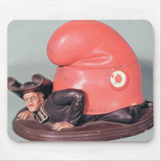 An inkwell or tobacco pot mouse pad
