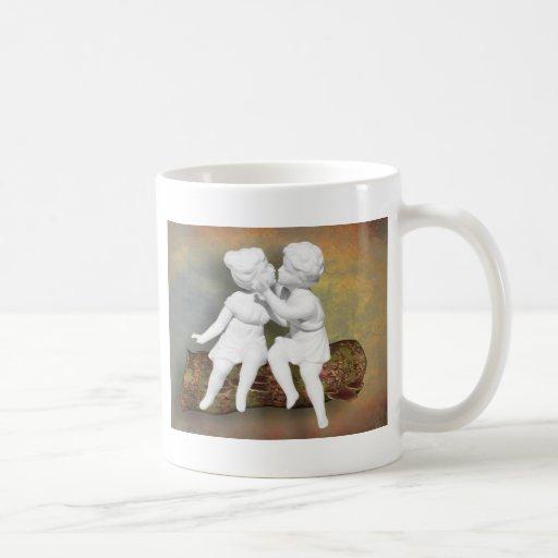 An Innocent Sweet Kiss of Childhood Coffee Mugs