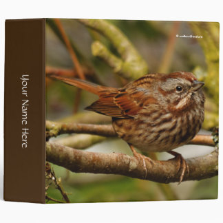 An Inquisitive Song Sparrow Binder