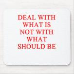 an inspirational success proverb mouse pad