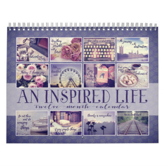 An Inspired Life | Vintage Quotations Indigo Calendar