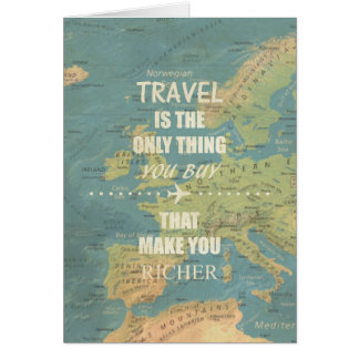 An inspiring travel quotes card