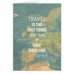 An inspiring travel quotes greeting cards
