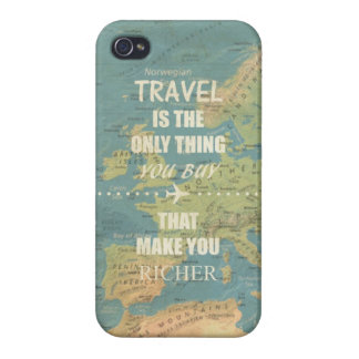 An inspiring travel quotes iPhone 4/4S cover