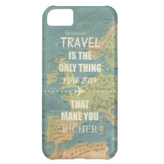 An inspiring travel quotes iPhone 5C cover