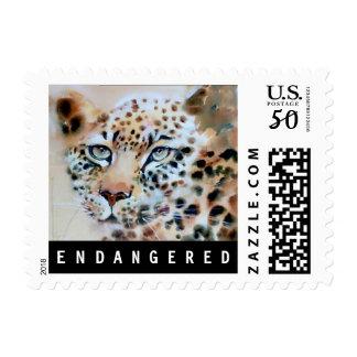 """An Intense Focus"" Leopard Print Postage"