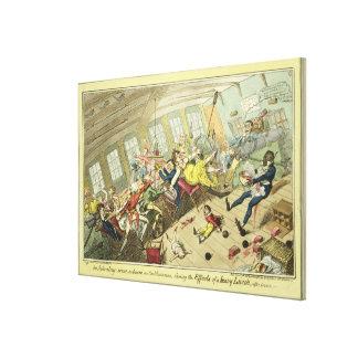 An Interesting Scene on board an East-Indiaman, sh Canvas Print