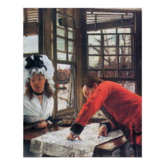 An interesting story by James Tissot Poster