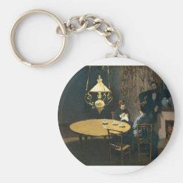An Interior after diner (1868-1869) Keychain
