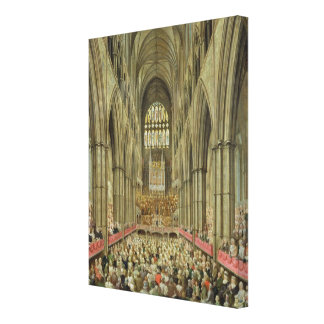 An Interior View of Westminster Abbey on the Comme Canvas Print